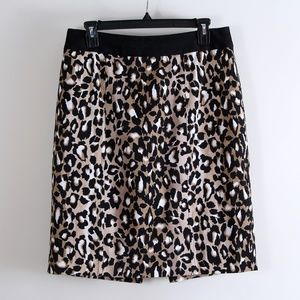WHBM Leopard Animal Print Pencil Skirt 10